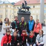 Градчани, біля пам`ятника Св. Юрію