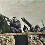 Оборонці Карпатської України, реконстукція, Словаччина, квітень 1939, кольоризоване фото