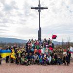 Закарпатські пластуни спільно зі словацькими скаутами, Красне поле, Хуст, 15 березня 2019