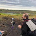 Прогулька латвійських юнаків та новаків по торф'яному болоті