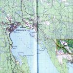 Фрагмент карти Республіки Карелія з позначенням урочища Сандармох