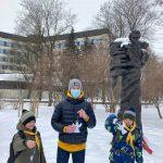 20 лютого 2021 пластуни Латвії вшанували пам'ять Героїв Небесної Сотні